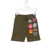 multipatches drawstring shorts
