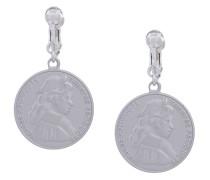 circular coin earrings