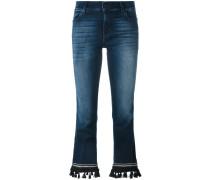 Cropped-Jeans mit Quasten
