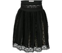 lace layered mini skirt