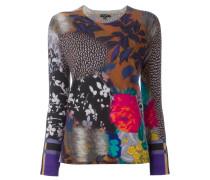 multi print fine knit jumper
