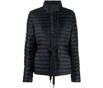 drawstring-waist padded jacket