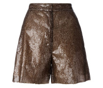 Pailletten-Shorts - women - Polyester/Viskose