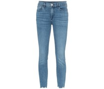 Halbhohe Cropped-Skinny-Jeans