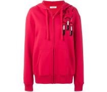 lipstick print hoodie