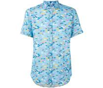 Hemd mit Print - men - Leinen/Flachs - L