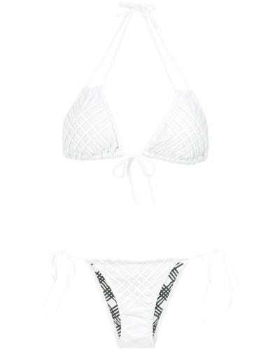 Bikini mit Gittermuster