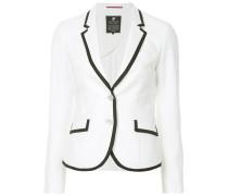 contrast trim blazer