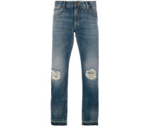 Distressed-Jeans mit geradem Schnitt
