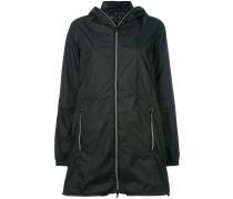 layered hooded jacket - women