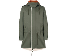 back print hooded coat - Unavailable