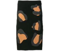 rib knitted skirt