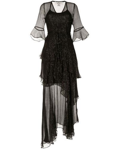 'Arabella' Kleid mit Metallic-Streifen