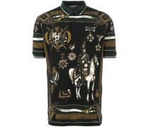 Royal print polo shirt