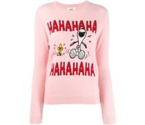 'Snoopy' Intarsien-Pullover