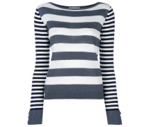 Marica striped-knit sweater