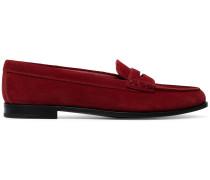 Suede Kara flat loafers