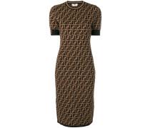 Schmales Kleid mit FF-Muster