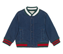 Baby jersey denim bomber jacket with Web