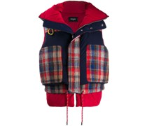 check padded panelled gilet