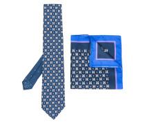 Seideneinstecktuch mit Krawatte