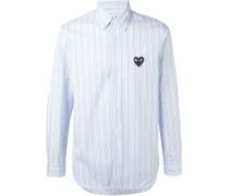 Gestreiftes Hemd mit aufgesticktem Herz - men