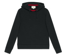 - hooded sweatshirt with web - men - Baumwolle - M