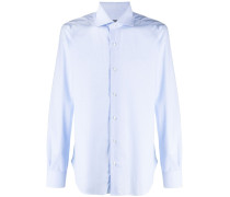 micro-print cotton shirt