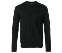 tone-on-tone sweater