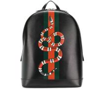 Kingsnake print backpack