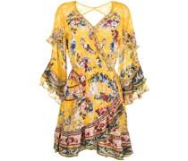 Geblümtes Kleid mit Rüschen