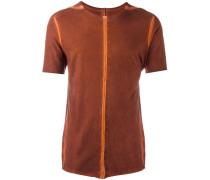 T-Shirt mit orangen Nähten