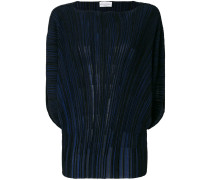 boat-neck pleated jumper