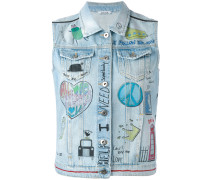 Jeansgilet mit Patches - women - Baumwolle - S