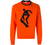 Sweatshirt mit Skater-Motiv