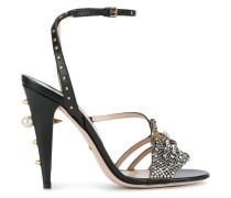 Sandalen mit Kristallen - women - Leder/glass