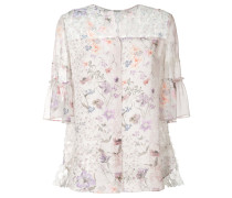 - Florale Bluse mit halblinken Ärmeln - women