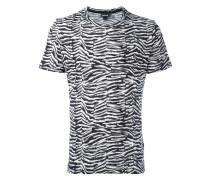 Jacquard-T-Shirt mit rundem Ausschnitt