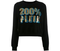 Cropped-Sweatshirt mit Print - women