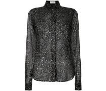 splatter detail shirt