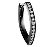 18kt 'Antifer' Schwarzgoldohrringe mit Diamanten