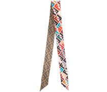 logo print skinny scarf