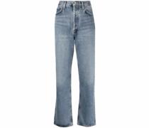 Gerade High-Waist-Jeans