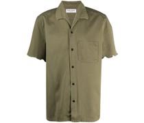 unfinished hem short-sleeve shirt