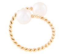 'Torsade' Ring mit Perle