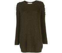 Pulloverkleid mit Perlendetails