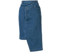 Jeans-Midirock im Deconstructed-Look