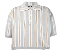 Gestreiftes Cropped-Poloshirt - unisex