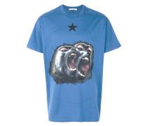 'Monkey Brothers' T-Shirt mit Print