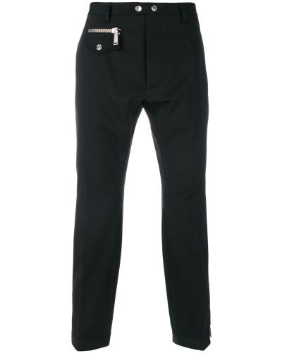 Cropped-Hose mit Reißverschlus